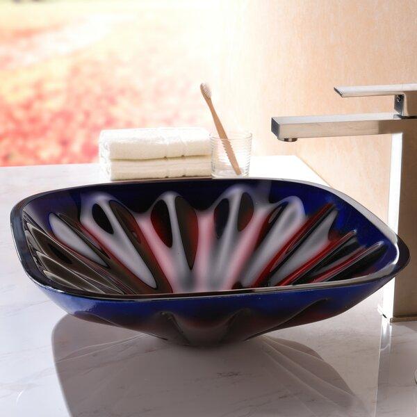 Depth Glass Square Vessel Bathroom Sink by ANZZI