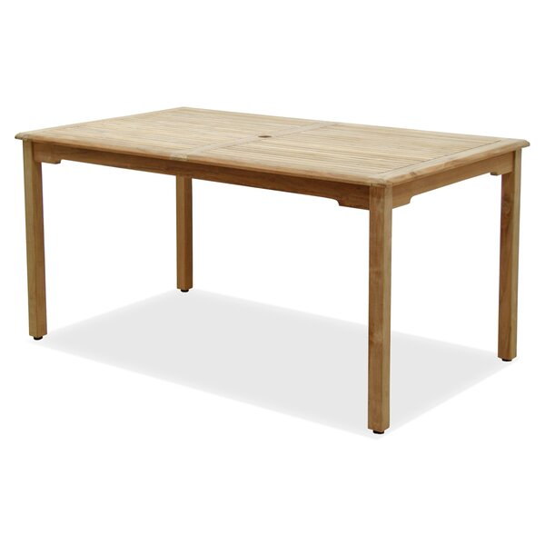 Bridgepointe Teak Dining Table by Rosecliff Heights