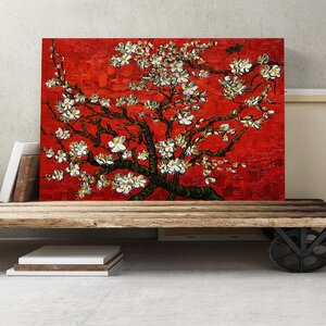 'Almond Blossom Tree 1' by Vincent van Gogh Painting Print on Canvas