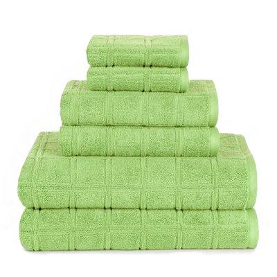Boehm 100% Cotton Manor Jackson 6 Piece Bath Towel Set Breakwater Bay Color: Foam Green