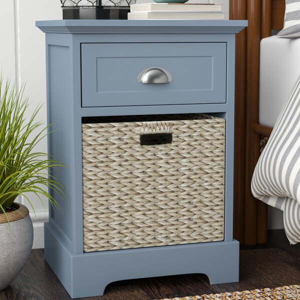 Fleming 1 Drawer Nightstand by Beachcrest Home