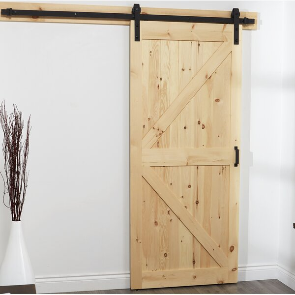Rustic Barn Solid Wood Room Dividers Pine Door by Erias Home Designs
