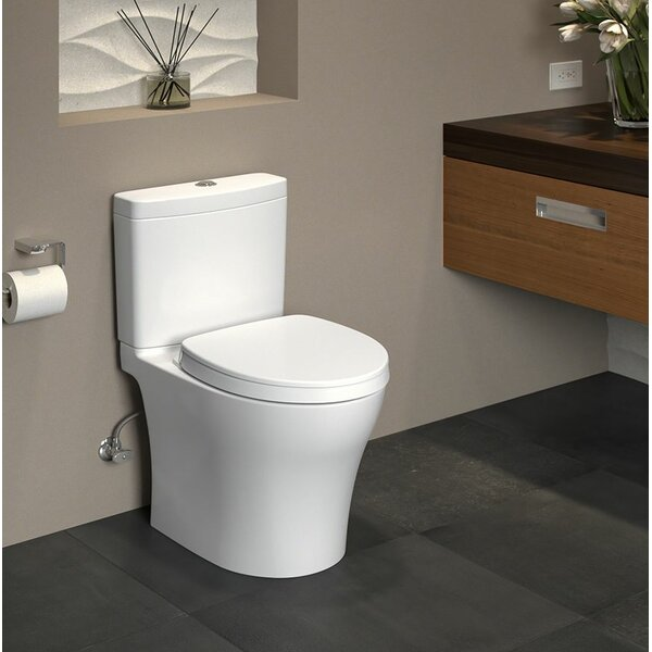 Aquia IV Dual Flush Elongated Two-Piece Toilet with CeFiONtect by Toto