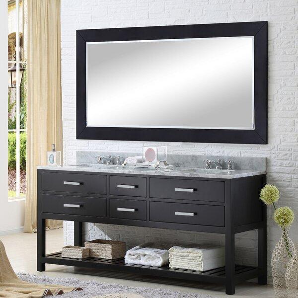 Berghoff 60 W Double Sink Bathroom Vanity Set with Rectangular Mirror by Andover Mills