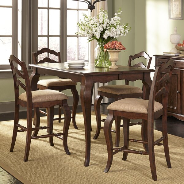 Aspremont Counter Height 5 Piece Dining Set by August Grove