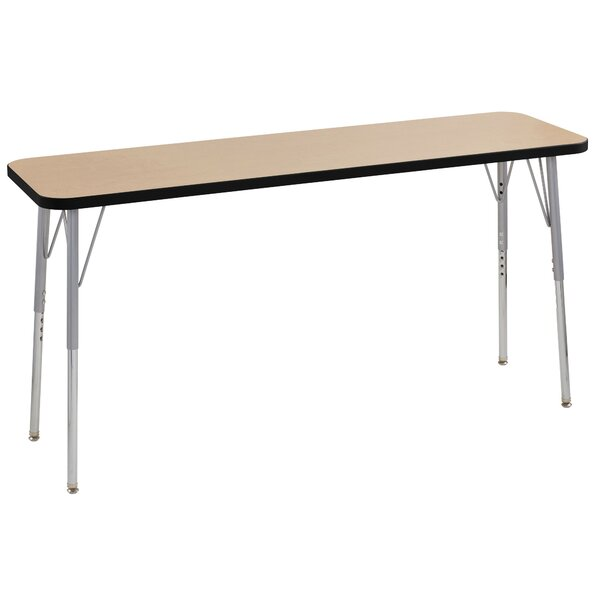 Maple Contour Thermo-Fused Adjustable 18 x 60 Rectangular Activity Table by ECR4kids