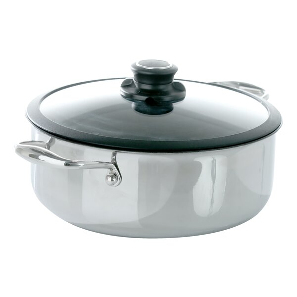 Black Cube Non-Stick 4 qt. Round Casserole by Frieling
