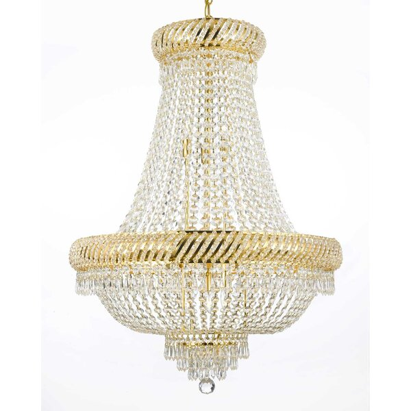 Montana 12-Light Unique / Statement Empire Chandelier by House of Hampton House of Hampton