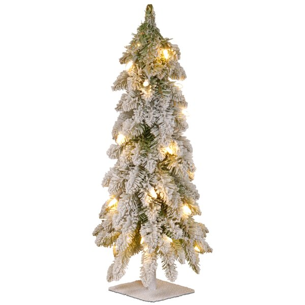 24 White Artificial Christmas Tree with 50 Clear L