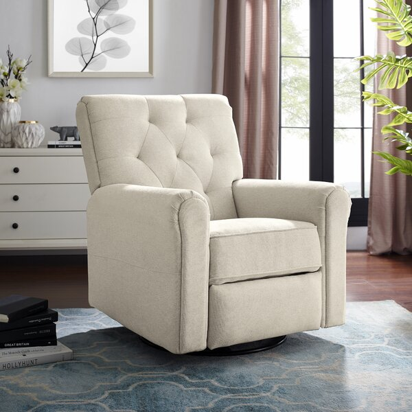 Coomer Upholstered Swivel Glider by Harriet Bee