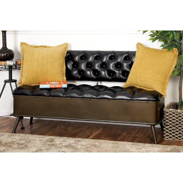 Faux Leather Storage Bench by Cole & Grey