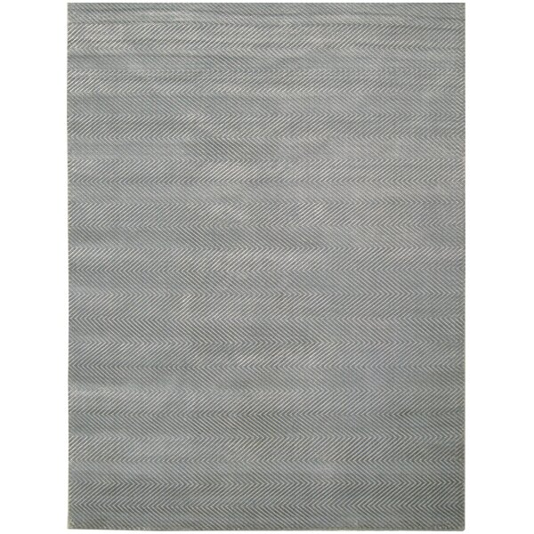 Hand Woven Silk Aqua Area Rug by Exquisite Rugs