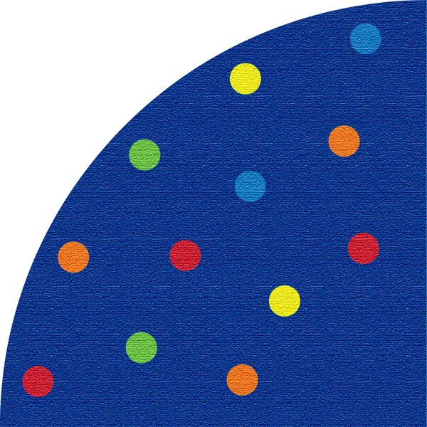 Spots Blue Corner Area Rug by Kid Carpet
