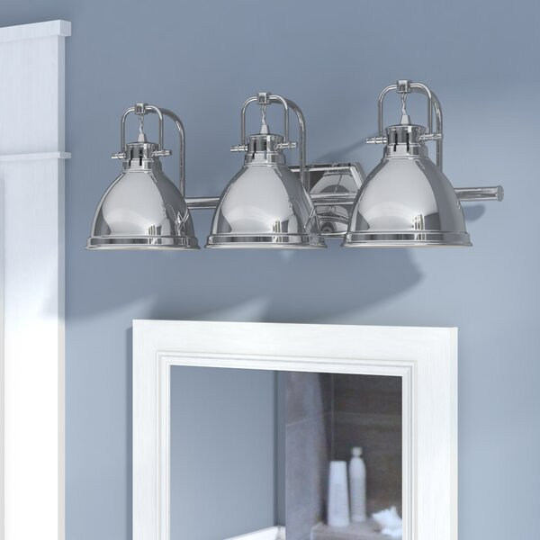 Morgane 3-Light Metal Vanity Light by Beachcrest Home