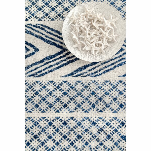 Jerrell Blue Area Rug by Bungalow Rose