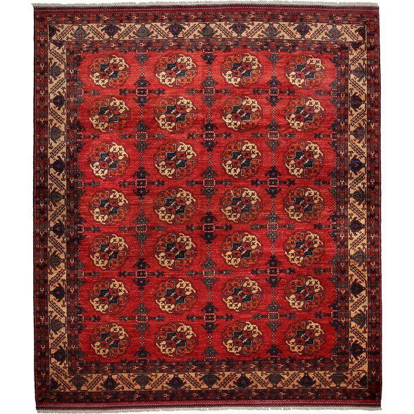 One-of-a-Kind Khyber Hand-Knotted Red Area Rug by Darya Rugs