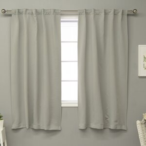 Rebeca Solid Blackout Thermal Curtain Panels (Set of 2)