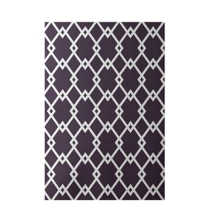Buying Geometric Purple Indoor/Outdoor Area Rug By e By  design