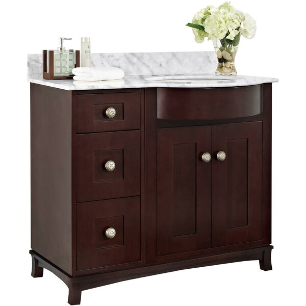 Kester 36 Single Bathroom Vanity Set with Ceramic Top by Darby Home Co