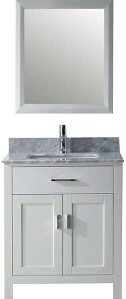 Celize 30 Single Bathroom Vanity Set with Mirror by Bauhaus Bath