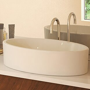 Reviews Classically Redefined Jaelyn Ceramic Oval Vessel Bathroom Sink By DECOLAV