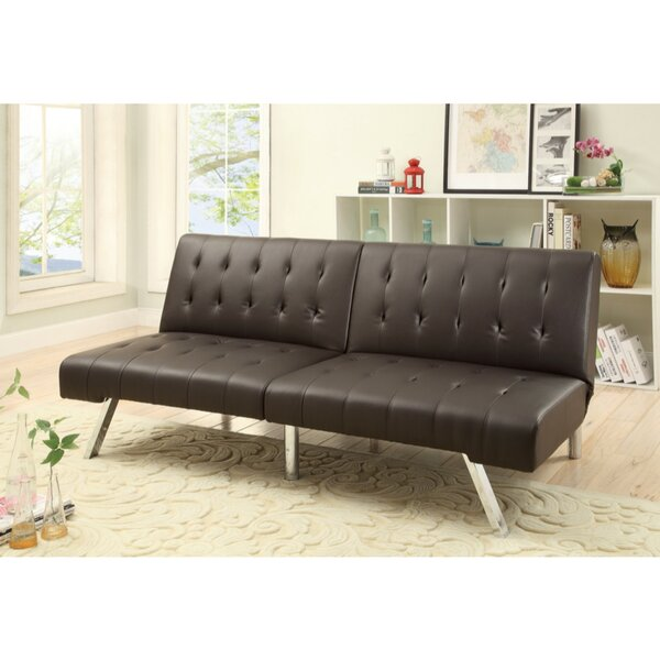 Luyster Tufted Seat and Back Leatherette Adjustable Convertible Sofa by Latitude Run