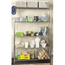 Echo Heavy Duty Chrome Wire 76 H Five Shelf Shelving Unit by Safavieh