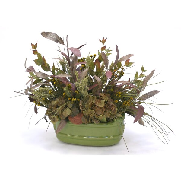 Mixed Floral Arrangement in Decorative Pot by August Grove