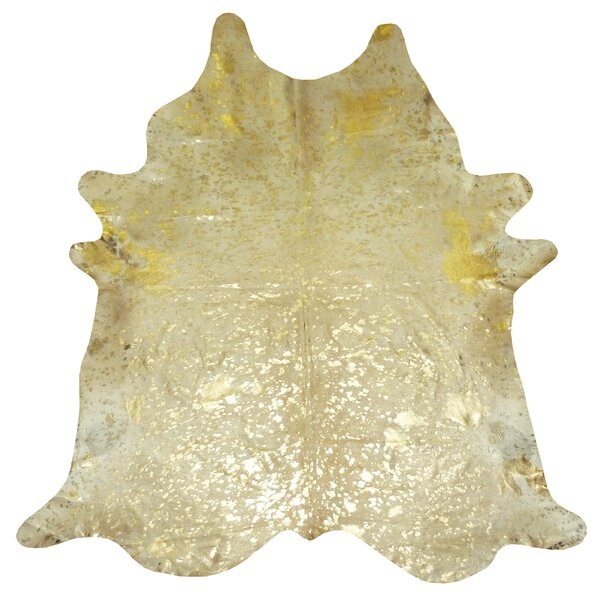 Extra Large Brazilian Cowhide Gold Area Rug by Chesterfield Leather