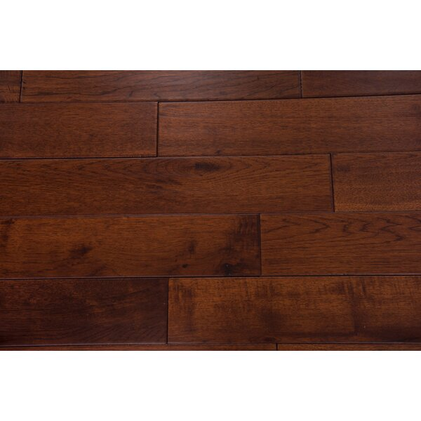 Thames 5 Solid Hickory Hardwood Flooring in Chocolate by Branton Flooring Collection