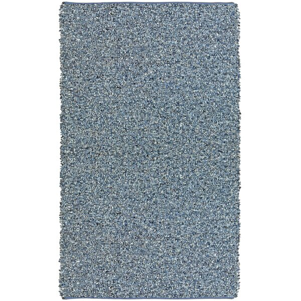 Baum Hand-Loomed Blue Area Rug by Ebern Designs