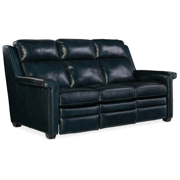 Reynaud Leather Reclining Sofa By Hooker Furniture