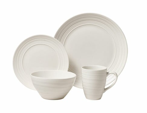 Ripple 16 Piece Dinnerware Set, Service for 4 by Thomson Pottery