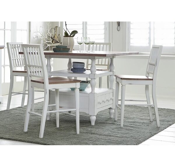 Galliano 5 Piece Wood Dining Set by Rosecliff Heights