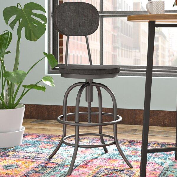 Keri Traditional Adjustable Height Swivel Bar Stool by Trent Austin Design