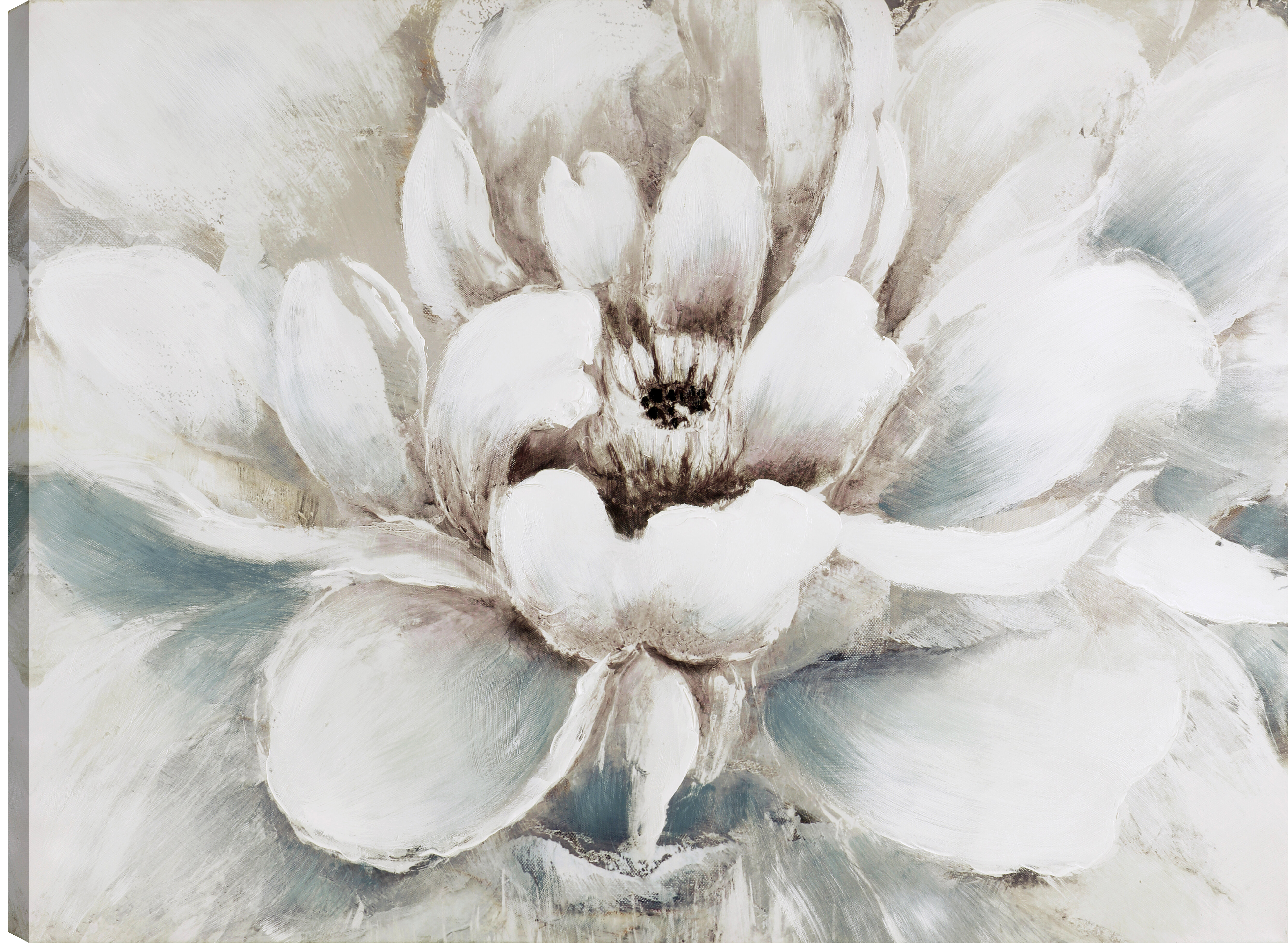 Ophelia Co The White Flower Oil Painting Print On Wrapped