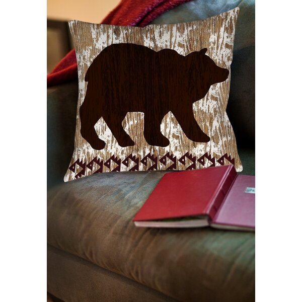 Wilderness Bear Printed Throw Pillow by Manual Woodworkers & Weavers