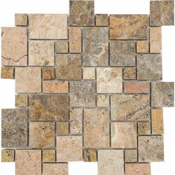 Scabos Mini Versailles Random Sized Stone Mosaic Tile by Parvatile
