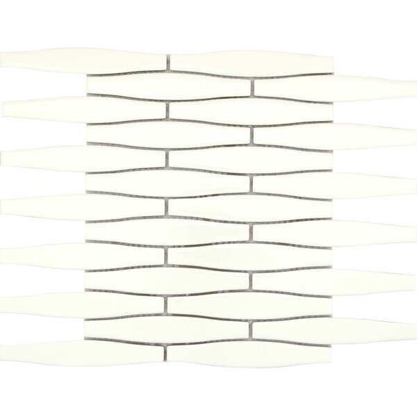 Vogue Convex 1 x 6 Porcelain Mosaic Tile in Matte Biscuit by Emser Tile