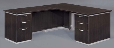 Pimlico 72 W L-Shape Executive Desk by Flexsteel Contract
