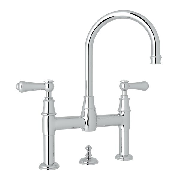 Georgian Era Widespread Bathroom Faucet with Drain Assembly