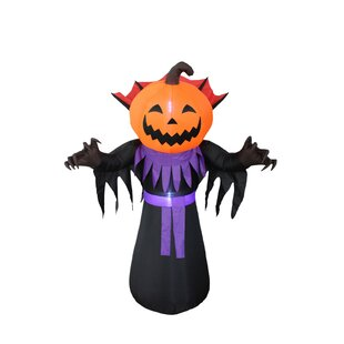 Halloween Inflatable Pumpkin Head Monster Yard Decoration by BZB Goods