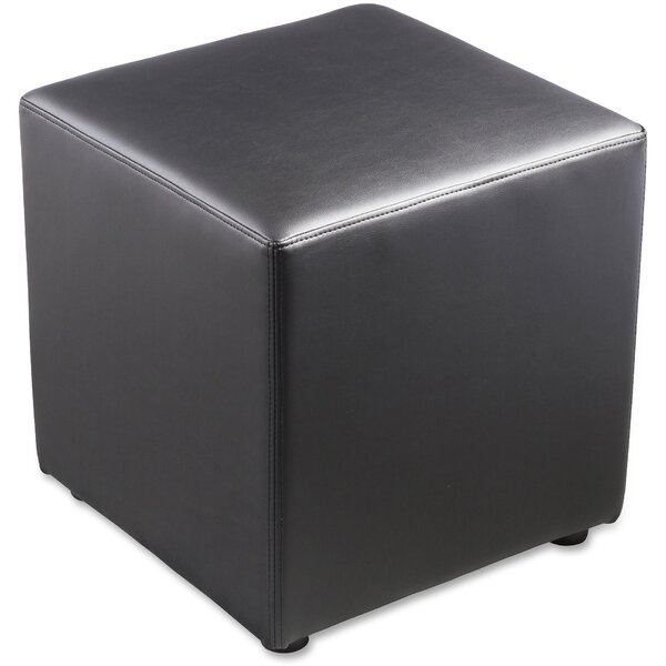 Leather Cube Ottoman by Lorell Lorell