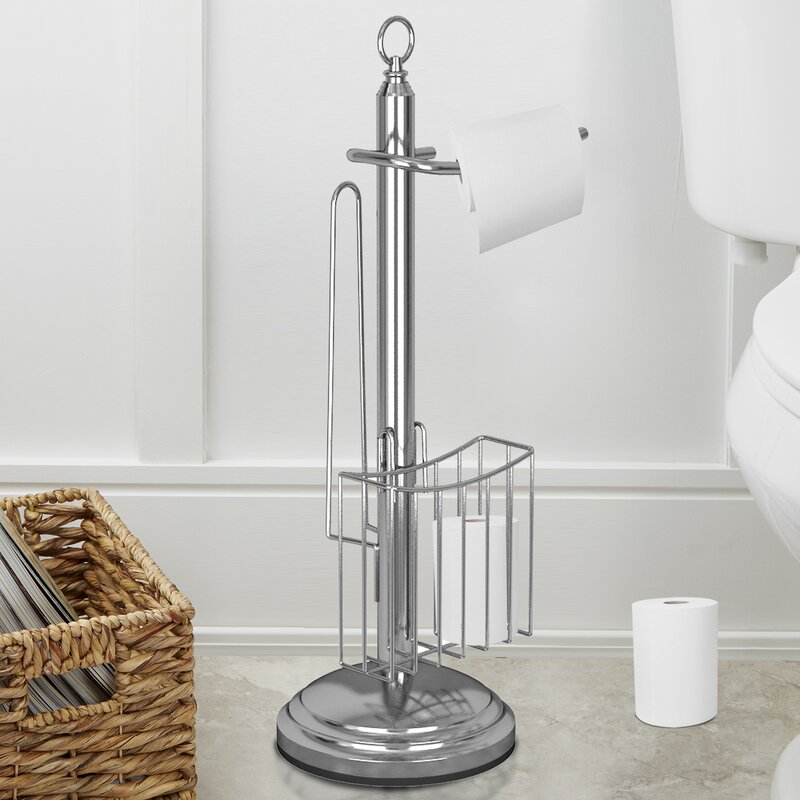 Freestanding Toilet Paper Holder with Storage