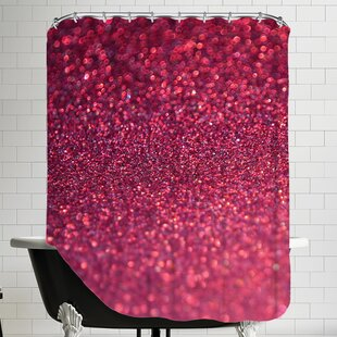 Deals Sparkley Shiny Glamour Shower Curtain ByEast Urban Home