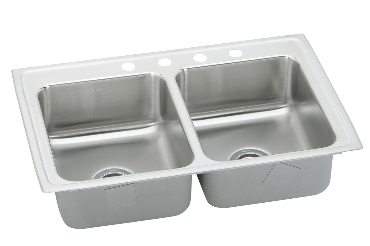 pacemaker 43   x 22   double bowl kitchen sink elkay pacemaker 43   x 22   double bowl kitchen sink  u0026 reviews   wayfair  rh   wayfair com