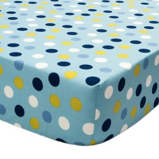 Space Bot Polka Dots Fitted Crib Sheet ByTrue Baby