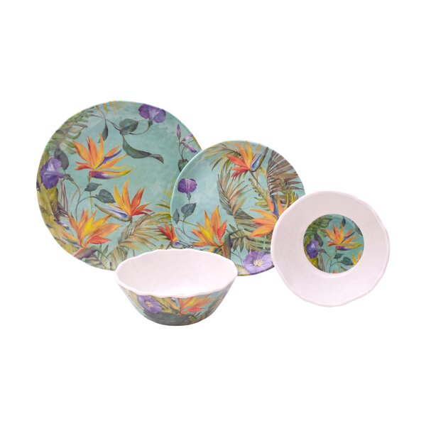 Calabria 12 Piece Melamine Dinnerware Set, Service for 4 by 222 Fifth