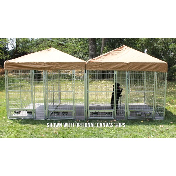 Heritage 3 Dog Galvanized Steel Yard Kennel by Tucker Murphy Pet