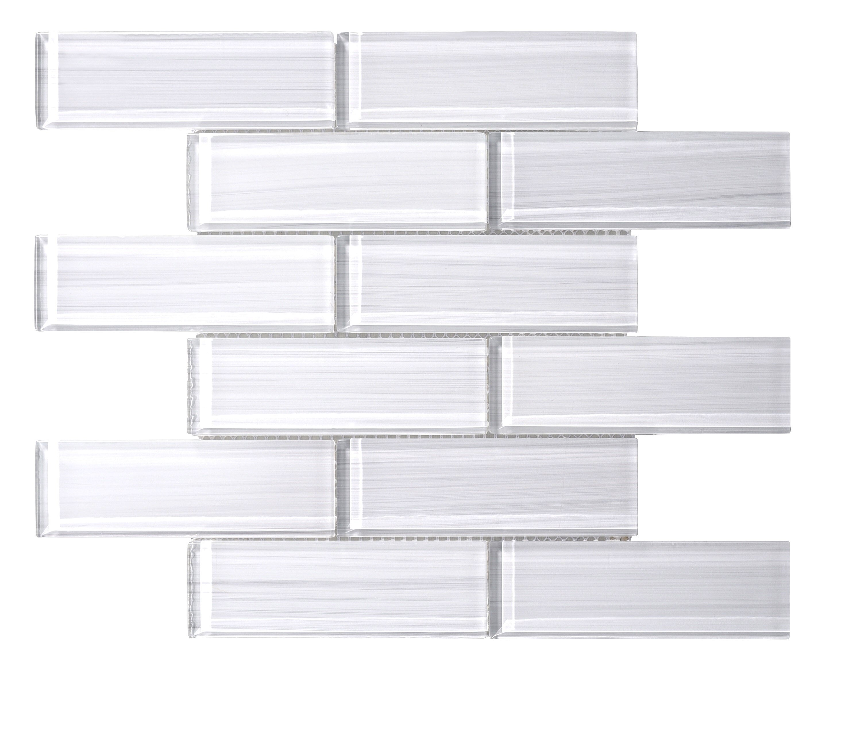 Ws Tiles Premium Series 2 X 6 Hand Painted Gl Subway Tile In
